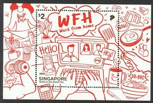 SINGAPORE 2020 QUIRKS IN THE ISLAND CITY SOUVENIR SHEET OF 1 STAMP IN MINT MNH