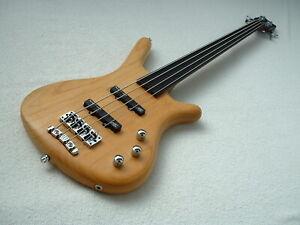 WARWiCK CORVETTE STANDARD STD 4 STRiNG FRETLESS BASS GUiTAR Bassgitarre  Bundlos
