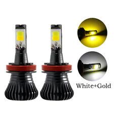 2X COB LED Fog Driving Lamp DUAL Color Car H7 LED Strobe Fog Light/Headlight kit