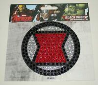 Official Marvel Comics Black Widow Logo Jeweled Window Sticker Decal New