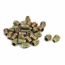 30pcs M6x13mm Zinc Plated Hex Socket Screw in Thread Insert Nut I1A7