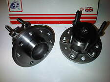 SAAB 9-3 1.8 1.9 2.0 2.2 REAR WHEEL BEARING HUB x2 inc ABS SENSORS 02-08
