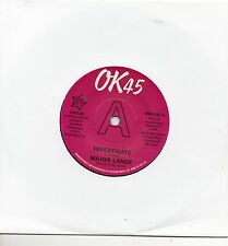 MAJOR LANCE  INVESTIGATE /IT'S THE BEAT  UK OK45/OUTTASIGHT Limited Edition DEMO