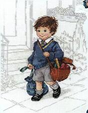 Janlynn Cross Stitch Kit - School Boy