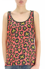 GENUINE Women's Dsquared2 Coral Floral Leaf Vest Top Size UK 8 BNWT RRP £385