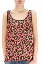 Genuine Women's Dsquared2 Coral Floral Leaf Vest Top Size UK 8