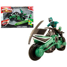 NEW Bandai Power Rangers Samurai Action Vehicle Set Green FOREST DISC CYCLE
