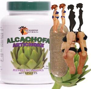 Pastillas De Alcachofa 60 Capsulas Extracto De Alcachofa Adelgazar Bajar De Peso