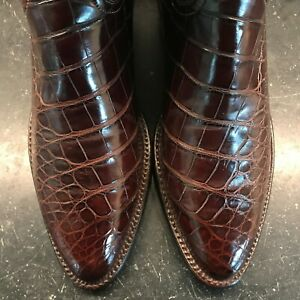 Lucchese Classics Handmade American Alligator Belly Bias Cut Boots Size: 6B