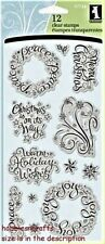 INKADINKADO CLEAR CLING STAMPS - 97734 - CHRISTMAS XMAS - WARM HOLIDAY WISHES