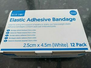 12 x white elastic adhesive bandage bulkbuy offer 5 cm width 4.5 metre long