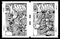 X-Men #1 Cover B & A Production Art by Jim Lee - Rogue, Gambit, Storm & Beast