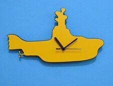 Yellow Submarine Silhouette - Wall Clock