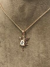 """Official Welsh Clogau Rose Gold 9ct Fairy Pendant (22"""") £180 OFF"""