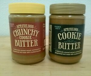 2- Trader Joe's Speculoos Cookie Butter (1- 11oz smooth; 1-14.1oz crunchy)