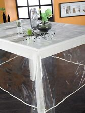 Nappe en plastique rectangulaire 140x200 cm transparent uni