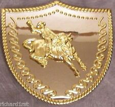 Metal belt buckle 2 tone Rodeo Bull Rider NEW