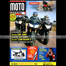 MOTO MAGAZINE N°227 KAWASAKI ZZR 1400 BW F800 S & ST YAMAHA XT 660 X DUCATI 695