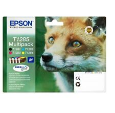 EPSON T1285 Pack de 4 Noir Cyan Magenta Jaune Original