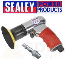 Sealey 75mm 7.6cm Mini léger CROCHET & BOUCLE AIR polisseuse/PARE-CHOC/polissage