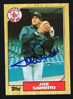 Joe Sambito #451 signed autograph auto 1987 Topps Baseball Trading Card