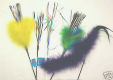 5 lot Mylar Feather Sparkler mix wands cat toy toys free shipping