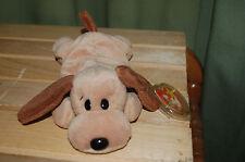 BONES the Tan & Brown Hound DOG  - Ty Beanie Baby  MWMT - Fast Shipping