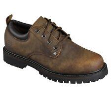 Skechers Mens Tom Cats Lace Up Shoe Dark Brown