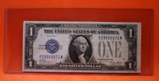 1928 A $1 Silver Certificate Blue Seal FR 1601 Funny Back