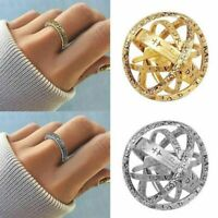 Adjustable Astronomical Sphere Shape Ball Ring Creative Ring Couple Lover Gifts