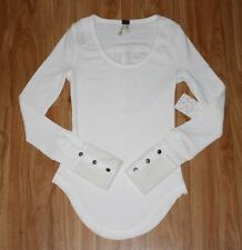 NWT Free People We the Free Sunnie Valley Thermal Ivory Size XS