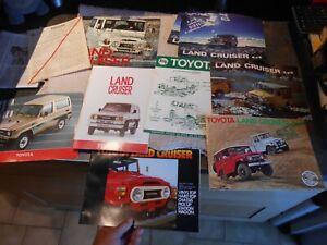 Lot d'Anciens Catalogues Dépiants ou Feuillets  Toyota 4x4 Land Cruiser