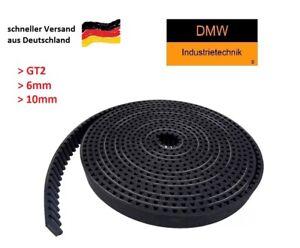 GT2 Zahnriemen 6mm oder 10mm breit für 3D Drucker RepRap CNC Riemen Meterware