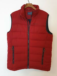CRAGHOPPERS Padded Gilet/Body Warmer-Red Size M