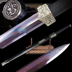 Evil spirits swords pattern steel Quenching blue treatment craft sharp #T081