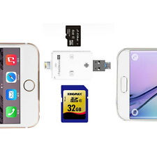 i-Flash Drive TF Micro SD & SD Memory Card Reader Kit for iPhone iPad Sumsung