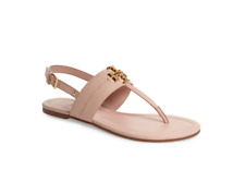 Tory Burch NEW Everly Bryce Sea Shell Pink Leather Thong Sandal  7.5 9 9.5 $228