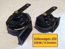 2x HUPE SIGNAL HORN Zweiklang Hochton Tiefton VW Caddy, Corrado,Golf II, GTI,G60