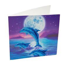 Crystal Art À faire soi-même Carte de vœux Kit, Dolphin Pod, Crystal Craft À faire soi-même Carte Kit,