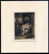 Erotismo-Sex-Biedermeier-litografía de Achille Devéria alrededor de 1835