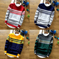 Men's Long Sleeve Sweater Jumper Knit Pullover Jacket Cardigan Jackets Coat Tops