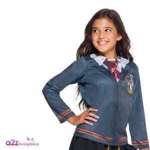 Girls Hermione Granger Gryffindor Top Harry Potter Uniform Book Day Fancy Dress