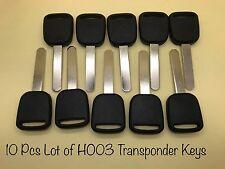10 Pcs Lot of Honda / Acura HO03 (V-Chip) Transponder Key (Generic Brand)