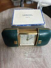 Ancien réveil de voyage LANCEL dans sa boîte d'origine fonctionne