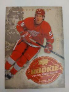 2008-09 Upper Deck Artifacts Rookie 248 Justin Abdelkader 670/999 Detroit Red...
