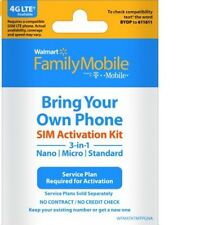 Walmart Family Mobile Starter Kit Powered By T-Mobile Sim Card X2 Galaxy Note