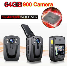 64GB Security Body Camera Police Pocket Video Guard Recorder HD 1080P D900 IR SY