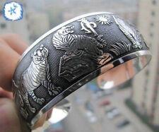 Hot! New Tibetan Tibet silver Totem Bangle Cuff Bracelet 30 style 23#