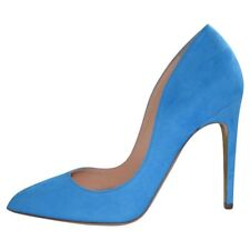 Rupert Sanderson Elba Azure/Blue Suede Hight Heel Pumps UK5.5/EU38.5