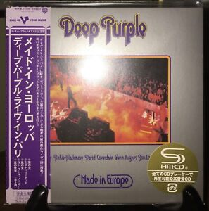 DEEP PURPLE- Made In Europe PROMO Japan MINI LP SHM CD w/OBI WPCR-13118VERY RARE
